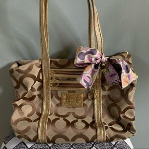 Coach Poppy Glamour Tote (style no. 13826)